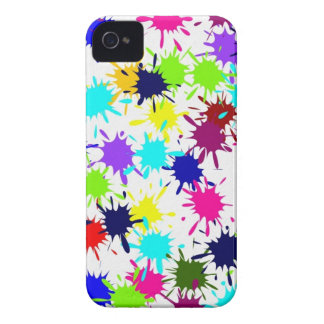Colorful Paint Splashes iPhone 4 Case