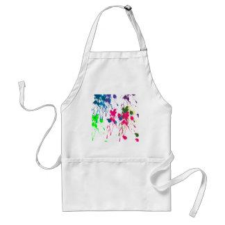 Colorful paint splatter adult apron