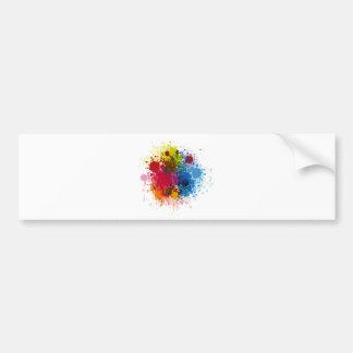 Colorful Paint Splatter Bumper Sticker