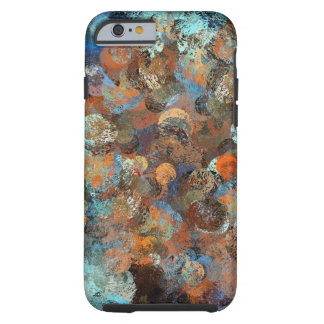 Colorful paint splatter illustration tough iPhone 6 case