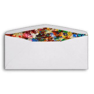 Colorful Paint Splatter Monogram Envelope