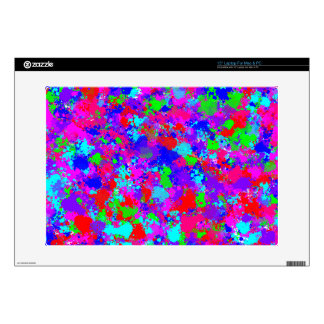 "Colorful Paint Splatter Pattern 15"" Laptop Skin"