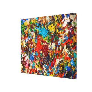 Colorful Paint Splatter Photo Canvas Print