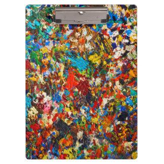 Colorful Paint Splatter Photo Clipboard