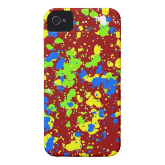 Colorful Paint Splatters Artistic Red iPhone 4 Cas Case-Mate iPhone 4 Case