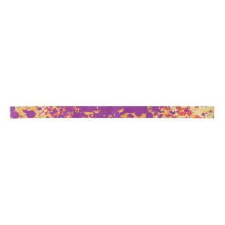 Colorful paint splattters satin ribbon