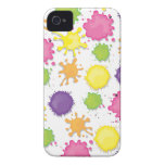Colorful Paint splotches, drips and spills case iPhone 4 Covers