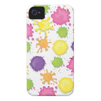 Colorful Paint splotches, drips and spills case