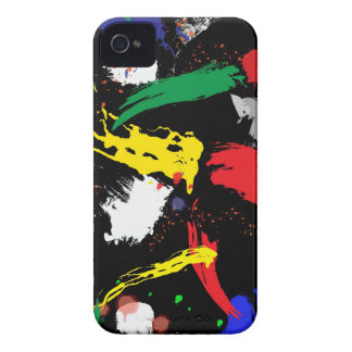 Colorful Paint Strokes iPhone 4 Case-Mate Case