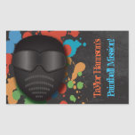 Colorful Paintball Birthday Party Stickers