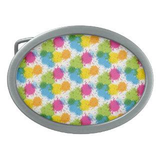 Colorful paintball Paint Design Belt Buckle