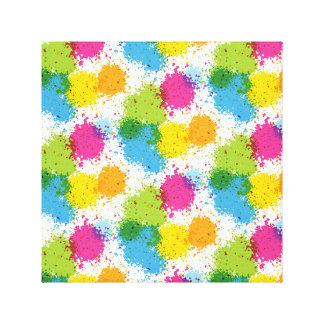 Colorful paintball Paint Design Canvas Print
