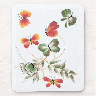 Colorful Painted Butterflies Mouse Pad