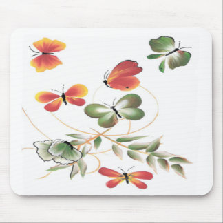 Colorful Painted Butterflies Mouse Pads