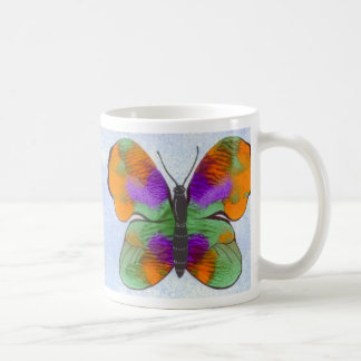 Colorful Painted Butterfly Coffee Mug