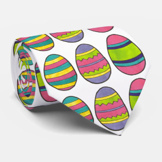 Colorful Painted Easter Egg Hunt Eggs Tie