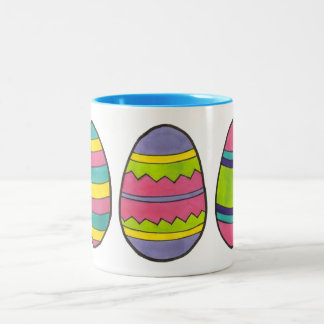 Colorful Painted Happy Easter Egg Hunt Eggs Mug