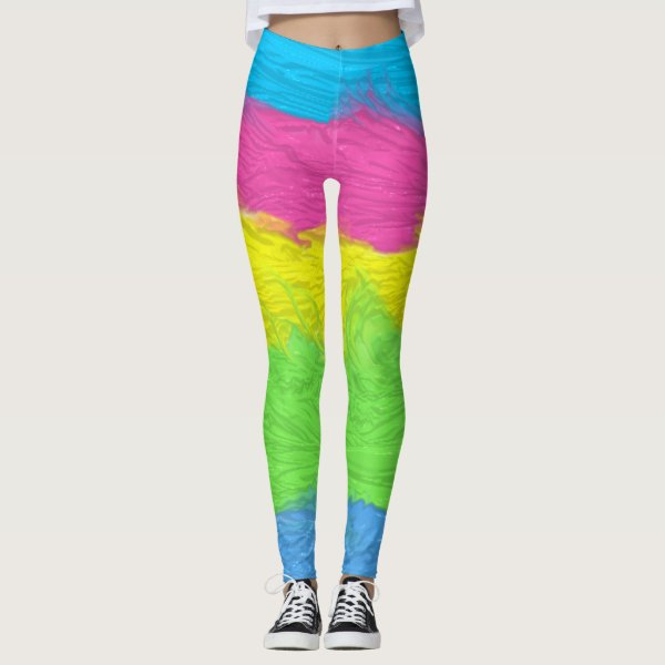 Colorful painted legs is the look for these leggings