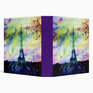 "Colorful Painted Paris 1.5"" Photo Album Binder"