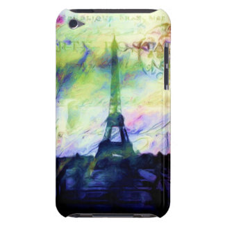Colorful Painted Paris iPod Touch Covers