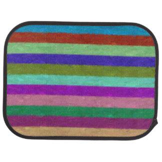 Colorful Painted Stripes Car Mat