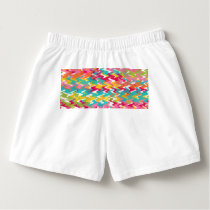 Colorful painted waves pattern boxers