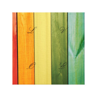 colorful, painted,wood walls,trendy,modern,pattern canvas print