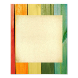 """colorful, painted,wood walls,trendy,modern,pattern 4.5"""" x 5.6"""" flyer"""