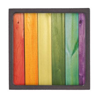 colorful, painted,wood walls,trendy,modern,pattern premium keepsake box
