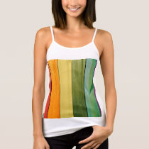 colorful, painted,wood walls,trendy,modern,pattern tank top