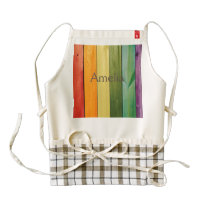 colorful, painted,wood walls,trendy,modern,pattern zazzle HEART apron
