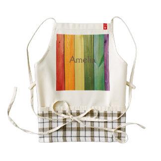 colorful, painted,wood walls,trendy,modern,pattern zazzle HEART apron
