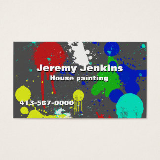 Colorful Painters Business Card