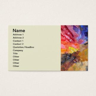 Colorful Painter's Palette Business Card