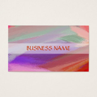 Colorful Painting Abstract Art 11 Business Card