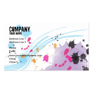 Colorful Painting Double-Sided Standard Business Cards (Pack Of 100)