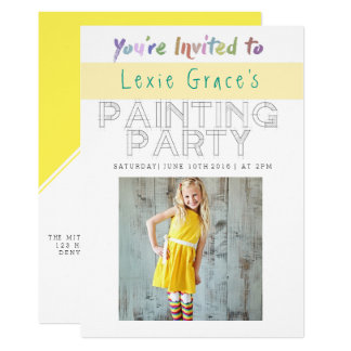 Colorful Painting Party | Photo Invite