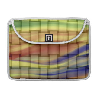 Colorful painting stripes art vintage sleeve for MacBook pro