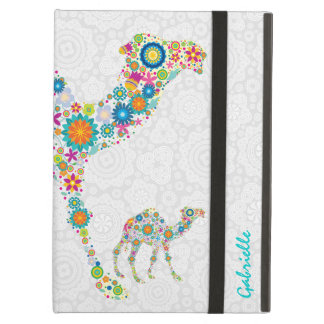 Colorful Pair Of Floral Camels Illustration iPad Air Cases