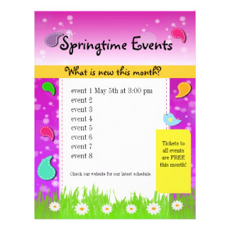 Colorful Paisely Spring Springtime Event Flyer