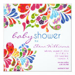 Colorful Paisley Baby Shower Invitation at Zazzle