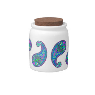 Colorful Paisley Candy Dish