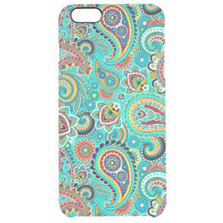 Colorful Paisley Clear iPhone 6 Plus Case