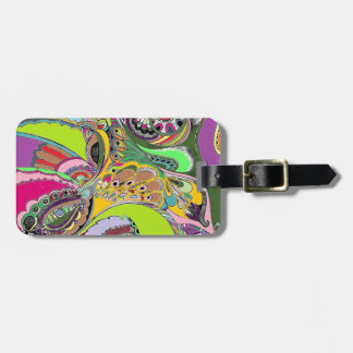 Colorful Paisley Coloring Book Design Tags For Bags