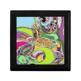 Colorful Paisley Coloring Book Design Trinket Boxes