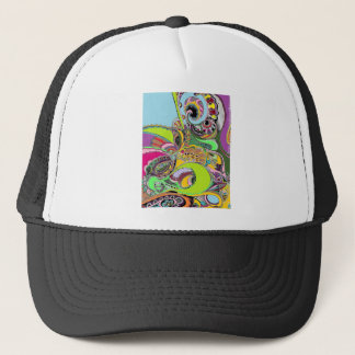 Colorful Paisley Coloring Book Design Trucker Hat