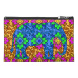 Colorful Paisley Elephant Cute Travel Accessories Bags
