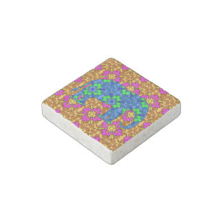 Colorful Paisley Elephant Magnet Stone Magnet