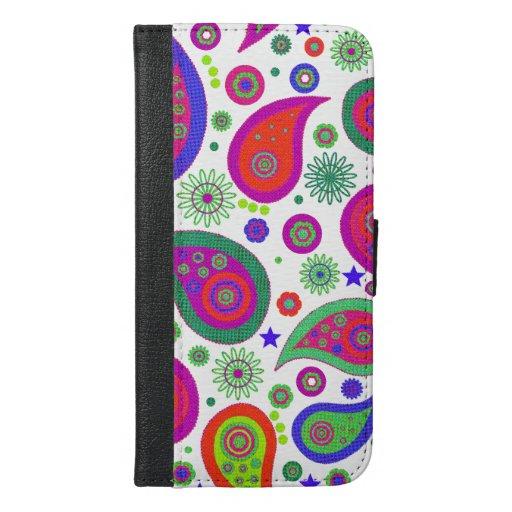 Colorful Paisley iPhone 6 Plus Wallet Case