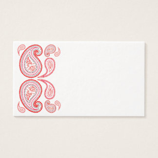 Colorful paisley middle eastern modern border business card
